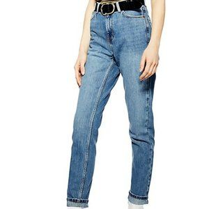 Topshop High Rise Mom Fit Jeans TALL